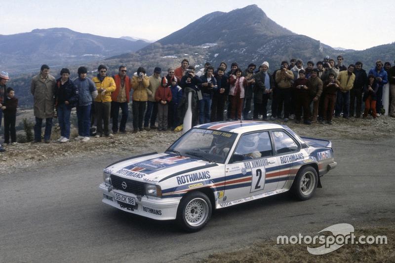 Walter Röhrl, sur une Opel Ascona 400 lors du Rallye Monte-Carlo 1982