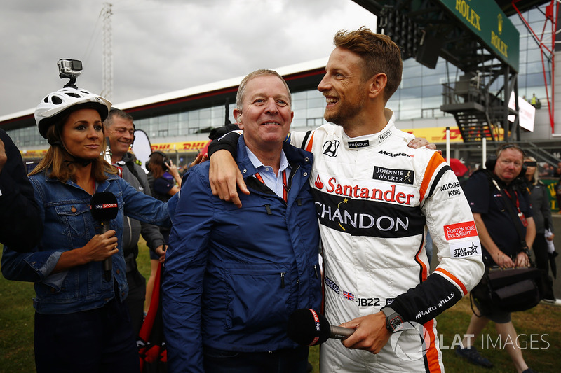 Martin Brundle, Sky Sports F1, Jenson Button, McLaren