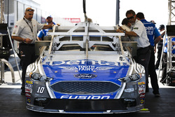 Danica Patrick, Stewart-Haas Racing Ford rolling through inspection