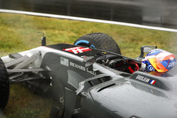 Romain Grosjean, Haas F1 Team VF-17 crash