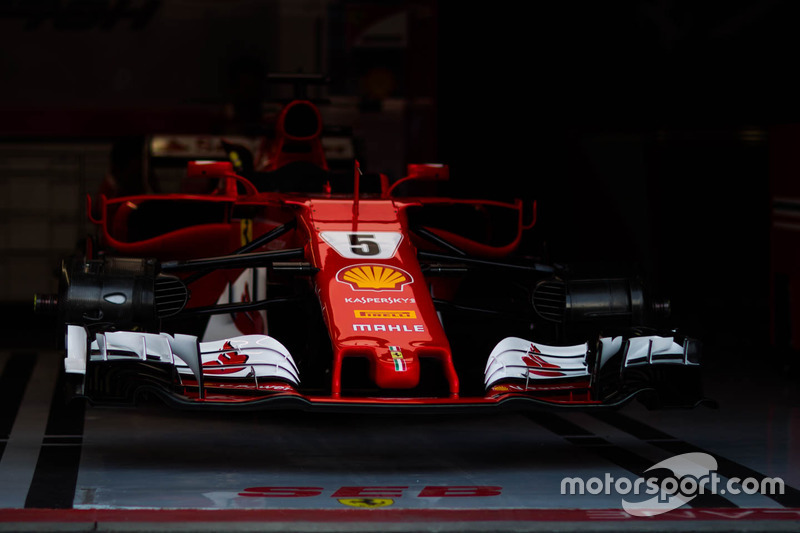 The car of Sebastian Vettel, Ferrari