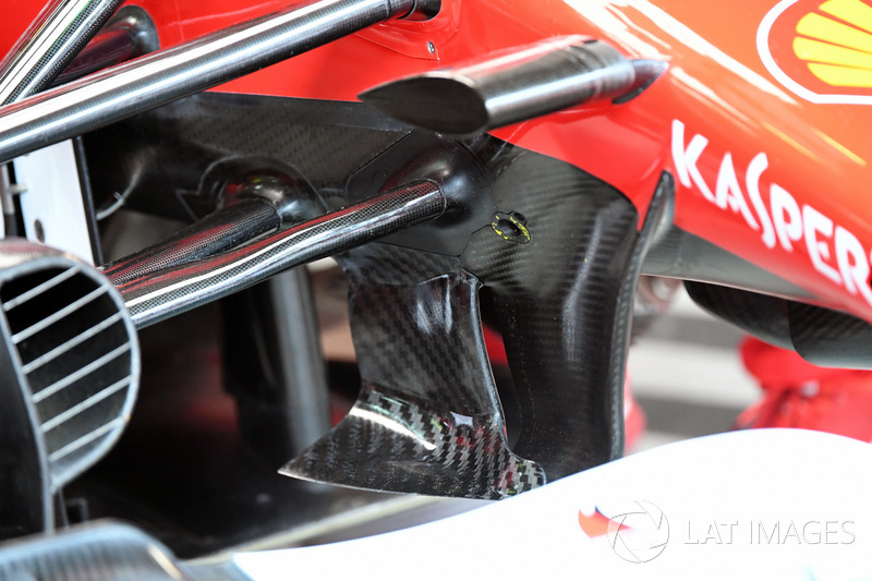 Une suspension avant de la Ferrari SF70H