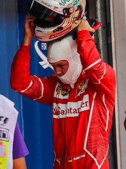 Sebastian Vettel, Ferrari in parc ferme