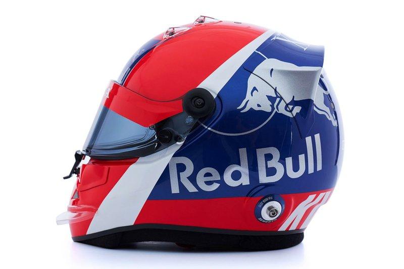 Helmet by Daniil Kvyat, Scuderia Toro Rosso