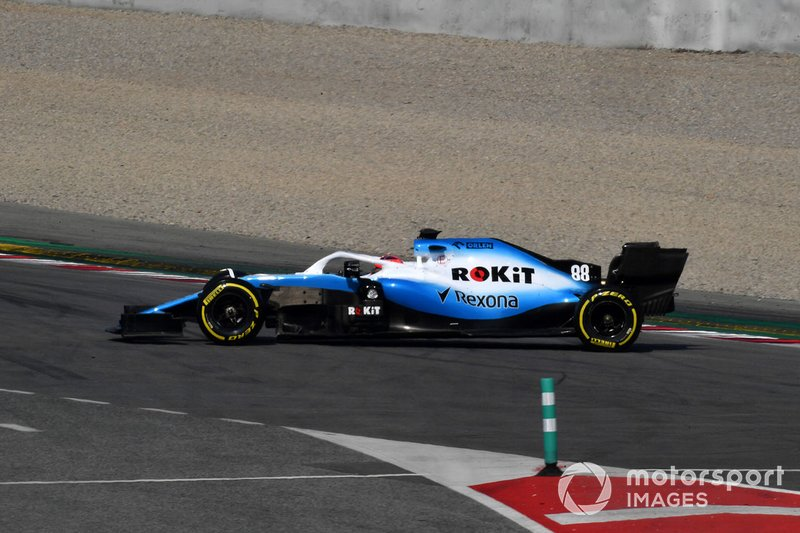 Robert Kubica, Williams FW42, in testacoda
