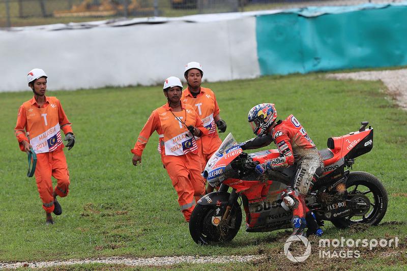 Аварія Андреа Довіціозо, Ducati Team