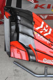 Vue détaillée de l'aileron avant d'une Ferrari SF71H