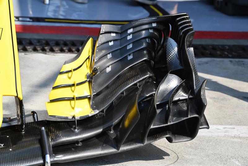 Detalle del ala delantera del Renault Sport F1 Team RS 18