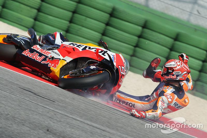 Marc Marquez, Repsol Honda Team caída Q2 Misano