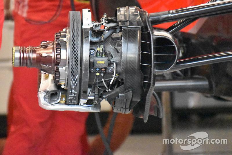 Montaje del freno del Ferrari