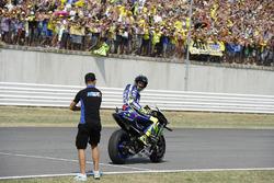 Second place Valentino Rossi, Yamaha Factory Racing, Mattia Pasini