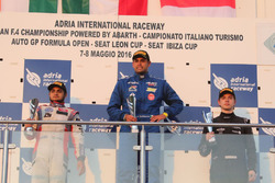 Podium: winner Luis Michael Dörrbecker, Torino Squadra Corse, second place Mahaveer Raghunathan, PS Racing, third place Dominik Fekete, Zele Racing