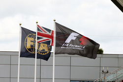 Banderas de la F1, FIA y Unión