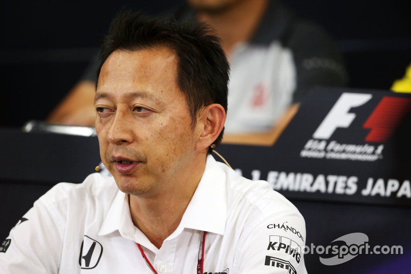 Yusuke Hasegawa, chef du programme Honda F1 lors de la conférence de presse de la FIA