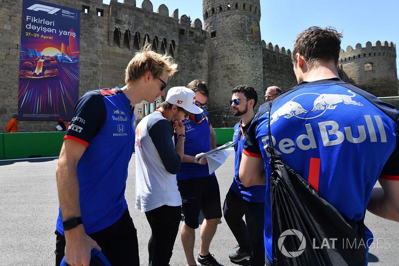 Brendon Hartley, Scuderia Toro Rosso - Pierre Gasly, Scuderia Toro Rosso