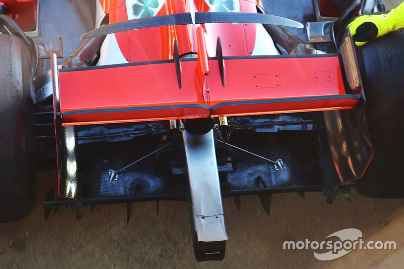 Rear detail of the Ferrari SF71H