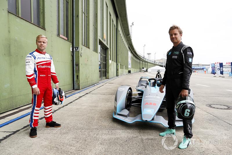 Felix Rosenqvist, Mahindra Racing, bersama kampiun Formula 1, Nico Rosberg
