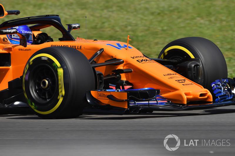Fernando Alonso, McLaren MCL33 burun ve ön kanat