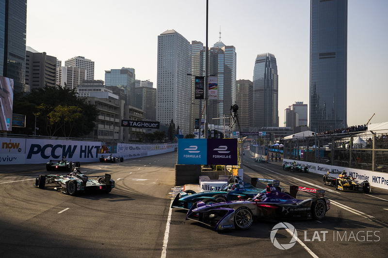 Antonio Felix da Costa, Andretti Formula E Team leads Alex Lynn, DS Virgin Racing