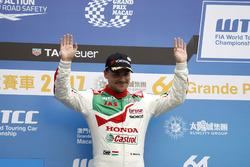 Podium: second place Norbert Michelisz, Honda Racing Team JAS, Honda Civic WTCC
