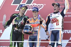 Podium: 1. Dani Pedrosa, Repsol Honda Team; 2. Johann Zarco, Monster Yamaha Tech 3; 3. und Weltmeister Marc Marquez, Repsol Honda Team