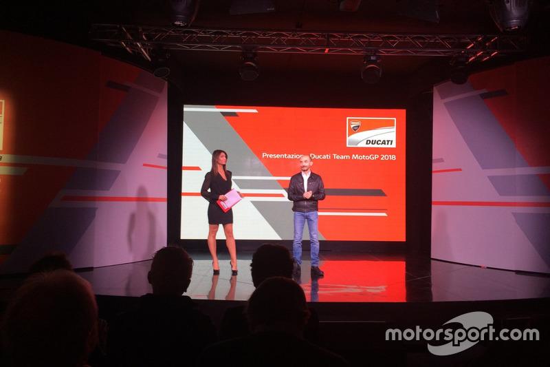 Barbara Pedrotti y Claudio Domenicali, CEO Ducati