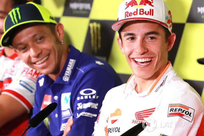 Марк Маркес, Repsol Honda Team,Валентино Россі, Yamaha Factory Racing