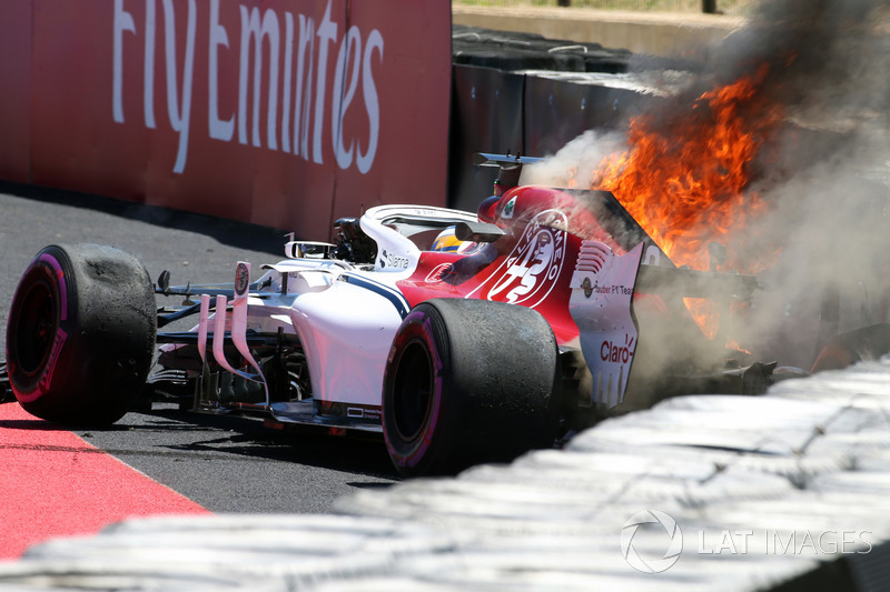 Ericsson after his FP1 crash