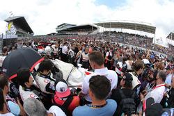 Startaufstellung für die 24h Le Mans 2018