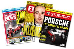 Титульні сторінки видань Motorsport News, F1 Racing, Autosport