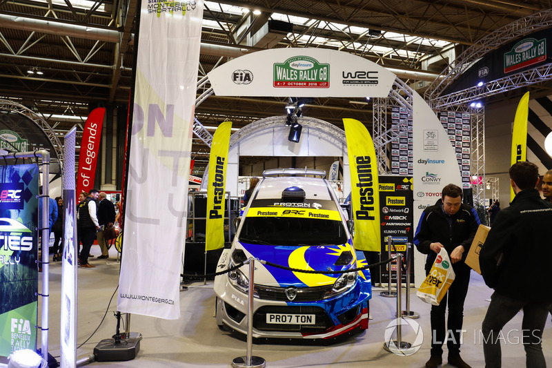 Visitors to the show in front of the Wales Rally GB stand