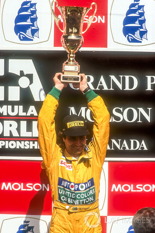 Podium: race winner Nelson Piquet, Benetton Ford