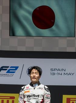 Podium: race winner Nobuharu Matsushita, ART Grand Prix