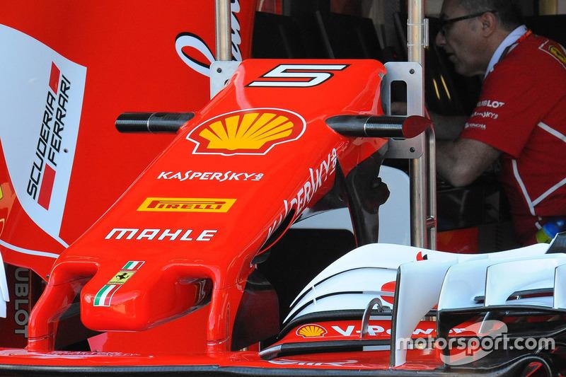 Ferrari SF70H: Frontflügel