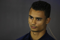 Pascal Wehrlein, Sauber, in the Thursday press conference