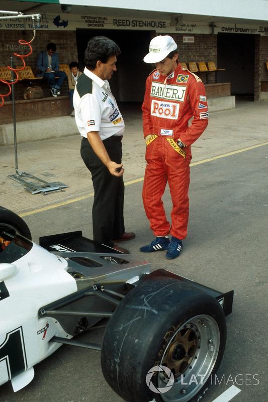 Айртон Сенна, командний менеджер Williams FW08C  Аллан Челліс