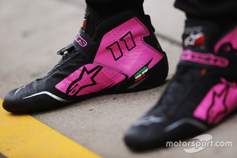 Le scarpe da corsa di Sergio Perez, Force India
