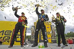 Top Fuel winner Brittany Force, Funny Car winner Matt Hagan, Pro Stock winner Erica Enders-Stevens
