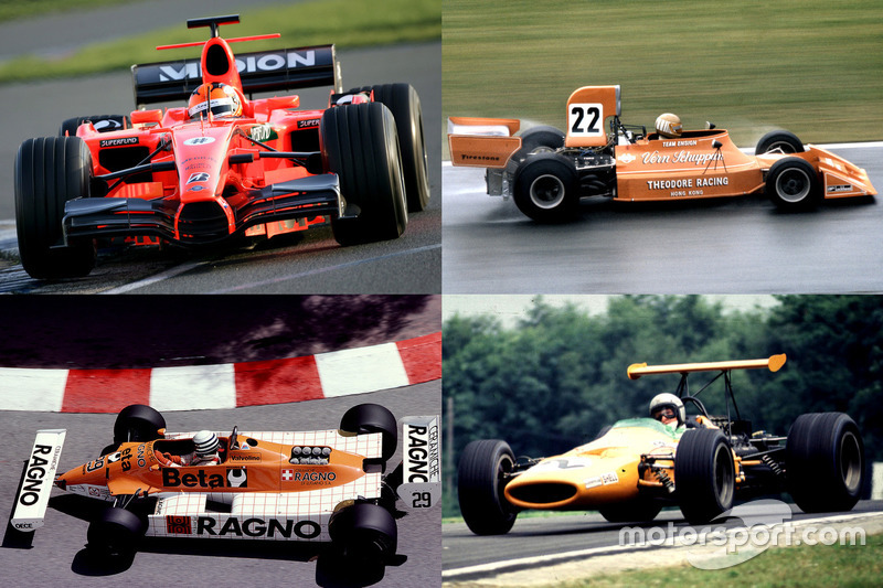 Formel-1-Autos in Orange