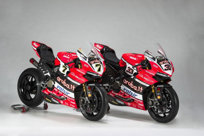 Motos de Chaz Davies y Marco Melandri, Ducati Team