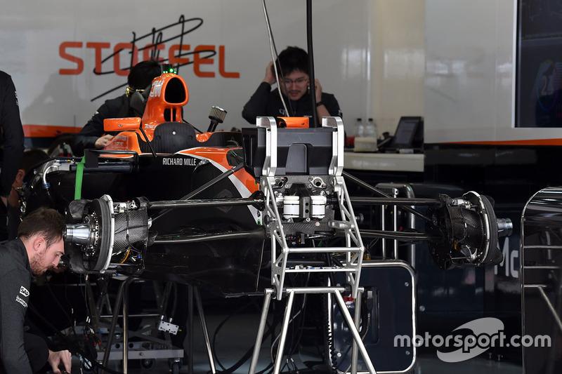 McLaren MCL32 in the garage