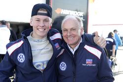 Luca Engstler, Liqui Moly Team Engstler, VW Golf GTI TCR mit seinem Vater Franz Engstler