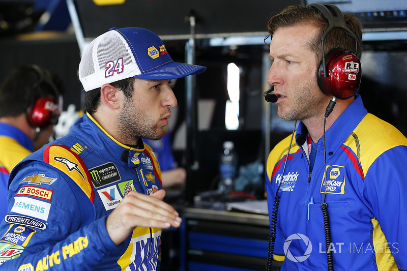 Chase Elliott, Hendrick Motorsports Chevrolet, mit Crewchief Alan Gustafson