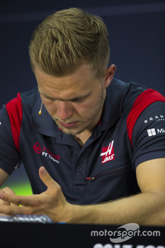 Kevin Magnussen, Haas F1 Team, in the press conference