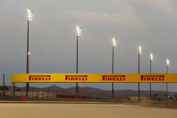 Floodlights around the circuit