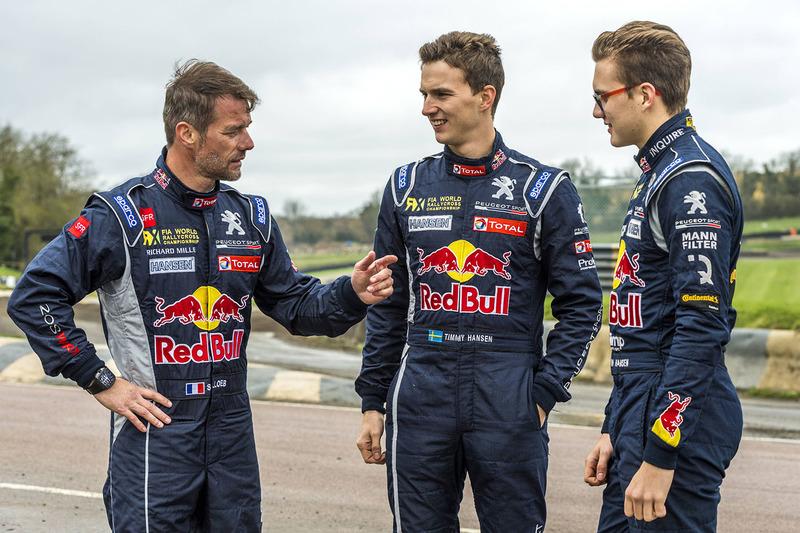 Гонщики Team Peugeot Hansen Себастьен Лёб, Тимми Хансен и Кевин Хансен