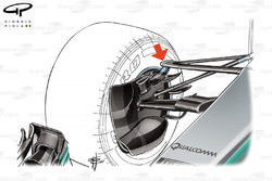 Mercedes W08 front suspension