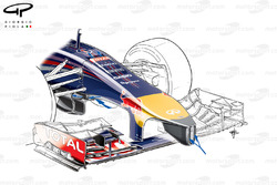 Red Bull RB10 nose detailed