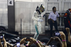 Race winner Lewis Hamilton, Mercedes AMG F1, celebrates in Parc Ferme