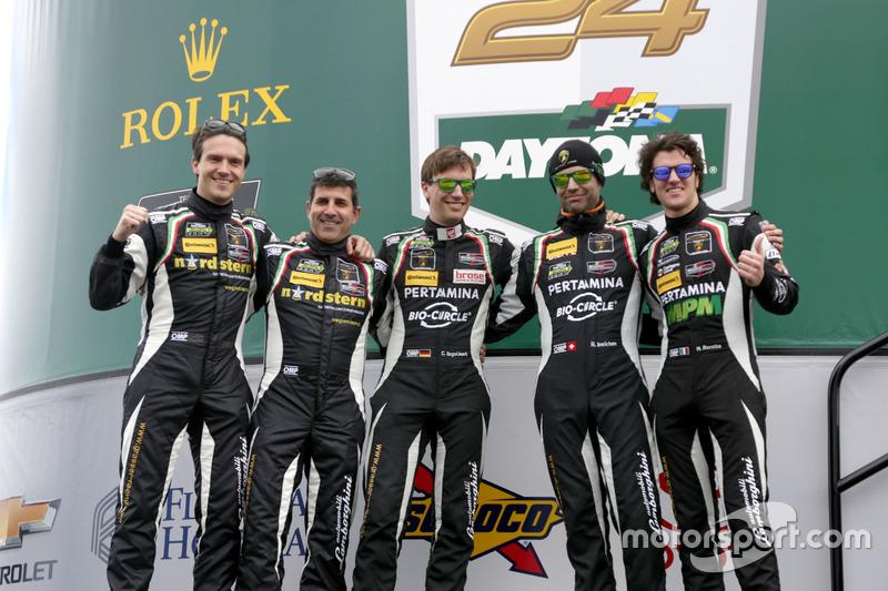 #61 GRT Grasser Racing Team Lamborghini Huracan GT3: Christian Engelhart, Rolf Ineichen, Roberto Pampanini, Michele Beretta, Milos Pavlovic